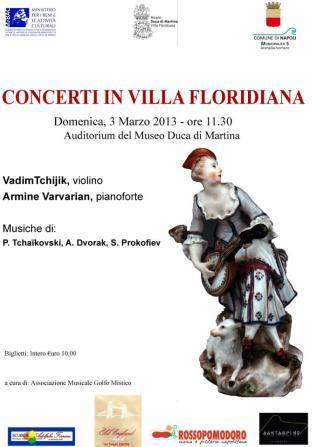 Concerti in Villa Floridiana - locandina 3 marzo