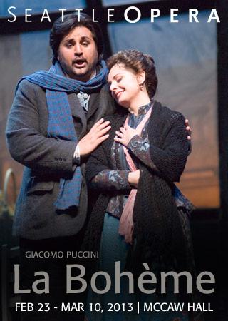Locandina Seattle Opera Boheme