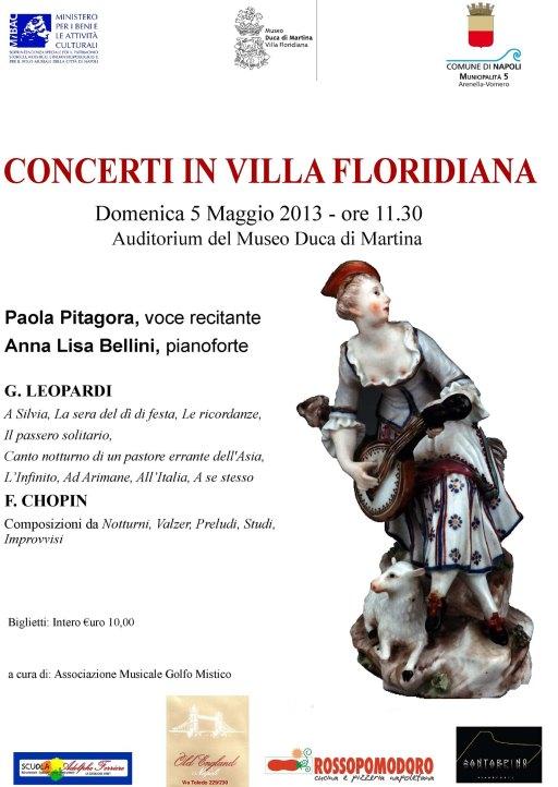 Locandina Concerti Floridiana 5 maggio