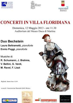 Locandina Concerti Floridiana 12 maggio