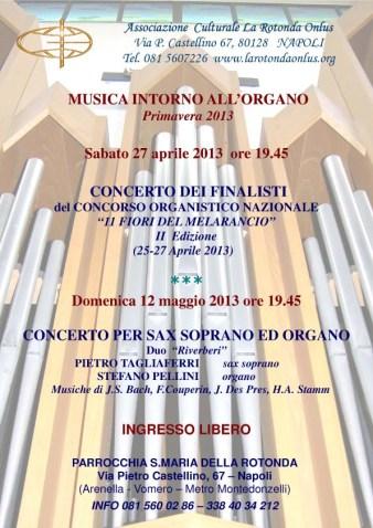 Locandina Musica intorno all'organo 2013