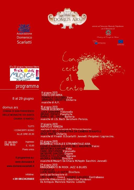 LOCANDINA Concerti al Centro GIUGNO 2013