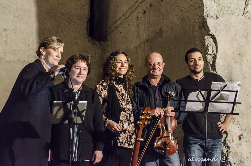 Da sinistra a destra Monica Doglione, Susanna Canessa, Annie Pempinello, Francesco De Laurentiis e Luca Guida - Foto Alessandro Catocci