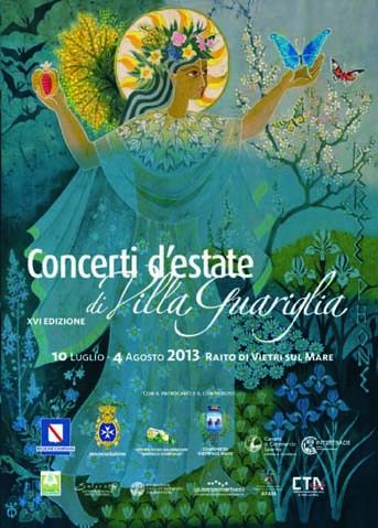Locandina Concerti d'Estate di Villa Guariglia 2013