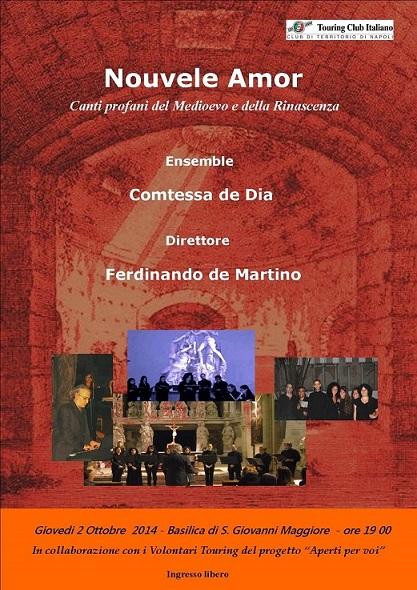 Locandina concerto Comtessa de Dia 2 ottobre