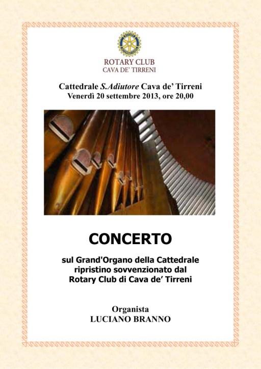 Locandina ripristino organo Duomo di Cava