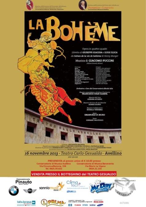 Locandina Bohème Avellino