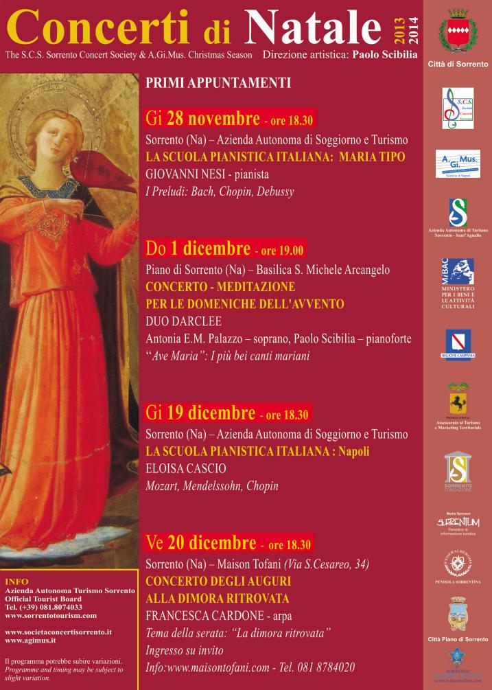 Giovedì 28 novembre il pianista Giovanni Nesi ospite del Sorrento ...