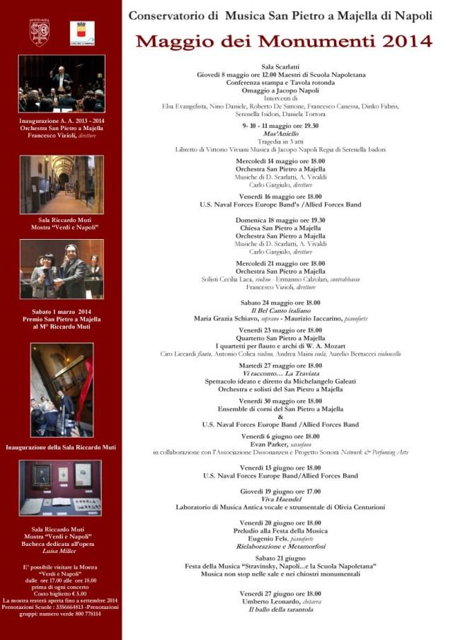 Manifesto Maggio al Conservatorio