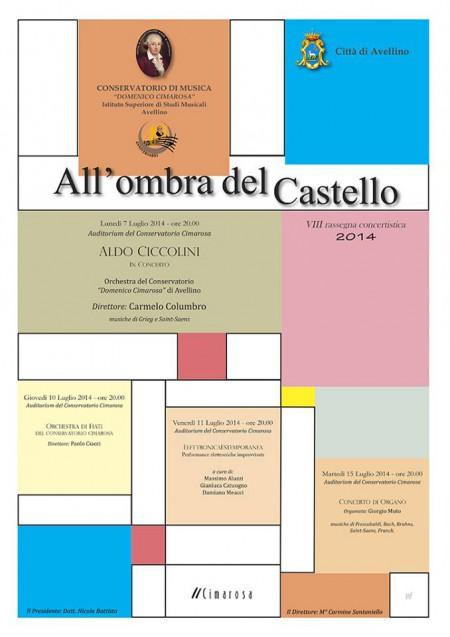 Manifesto all'ombra del castello 2014