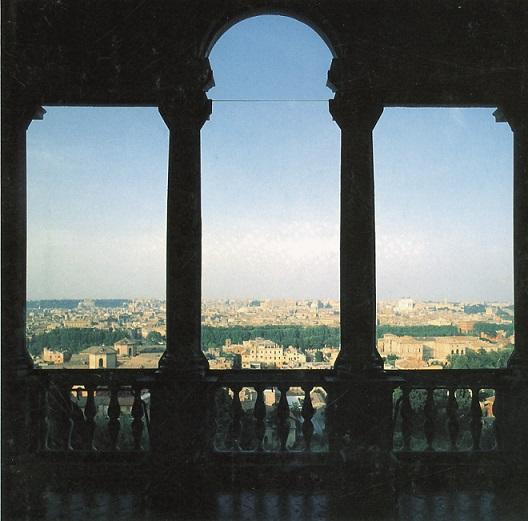 Villa lante loggia panorama