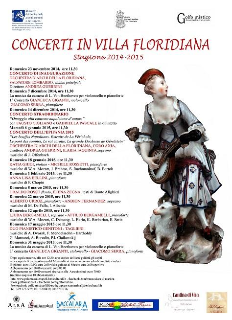Manifesto Concerti in Villa Floridiana 2014-2015