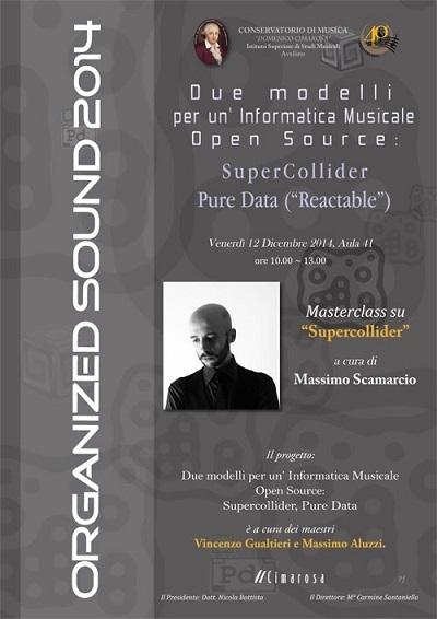 Locandina Masterclass Organize sound 2014 -2