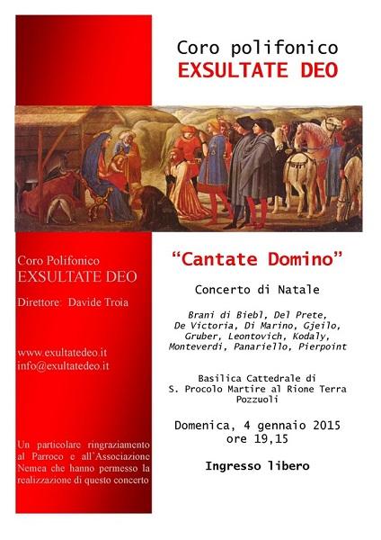 Locandina Concerto Coro Exsultate Deo Pozzuoli