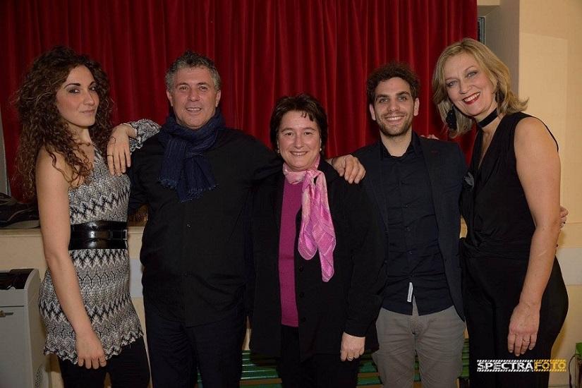 Da sin.: Clelia Liguori, Brunello Canessa, Susanna Canessa, Emiliano Barrella e Monica Doglione