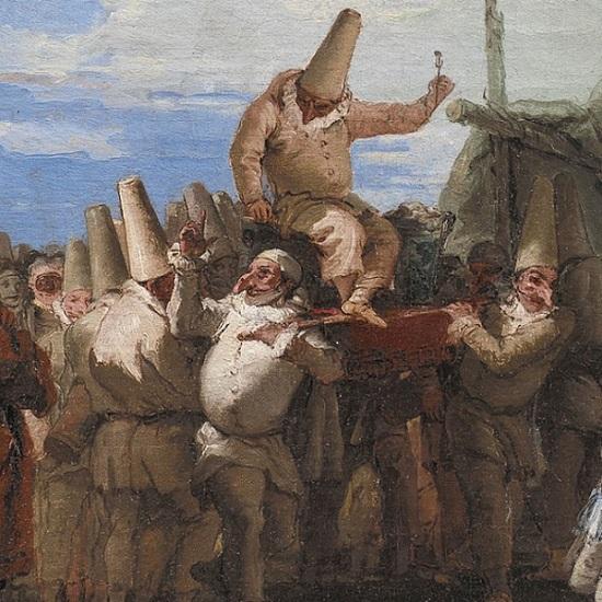 Giandomenico Tiepolo - Il trionfo di Pulcinella (particolare)