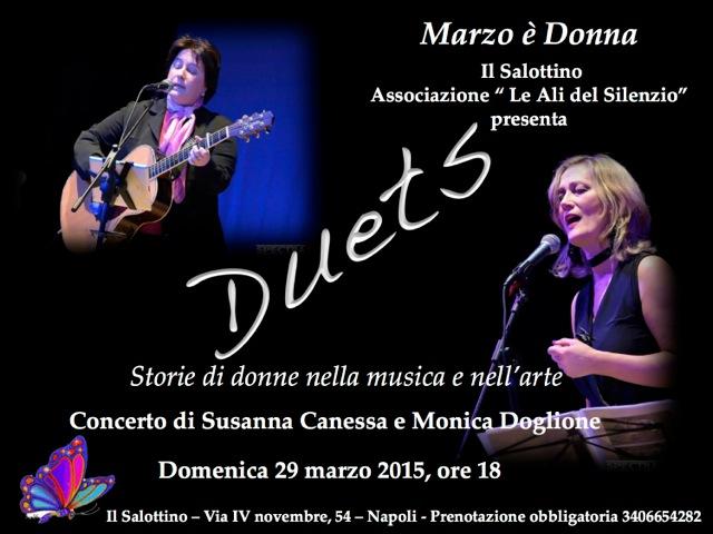Locandina Duets 29 marzo