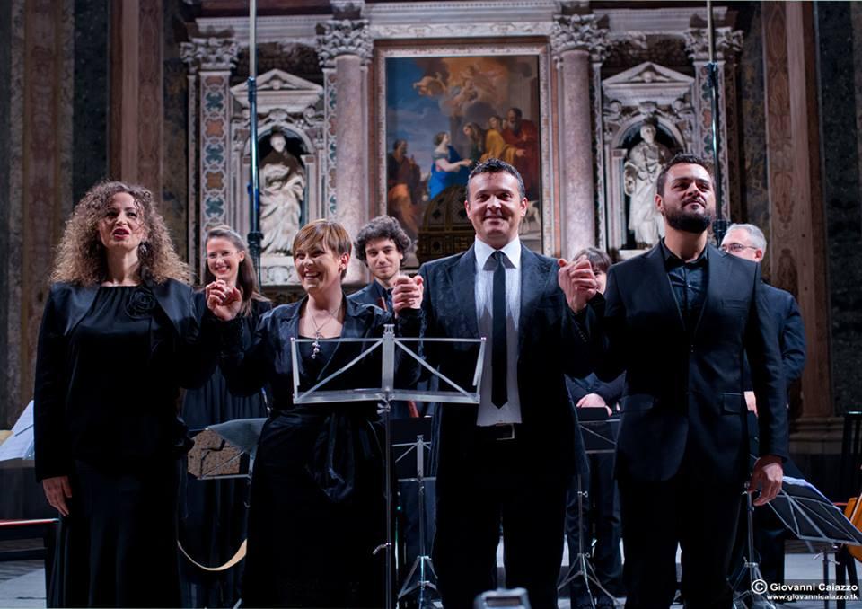 Da sinistra verso destra: Angela Luglio, Maddalena Pappalardo, Enrico Vicinanza e Fabio Anti - Foto Giovanni Caiazzo