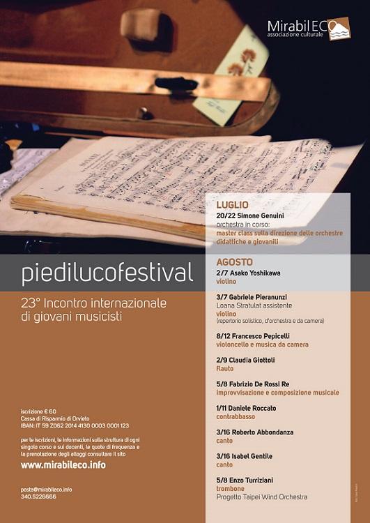 Locandina Piediluco Festival