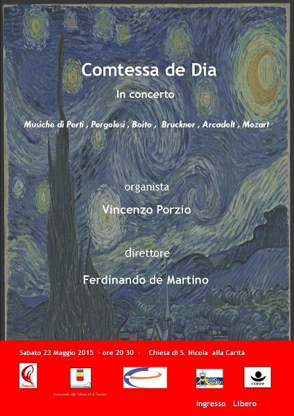 Locandina concerto Coro Comtessa de Dia
