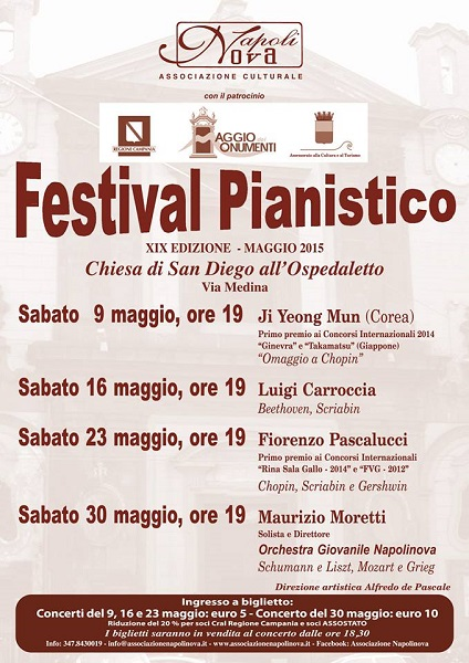Locandina Festival Pianistico Napolinova 2015