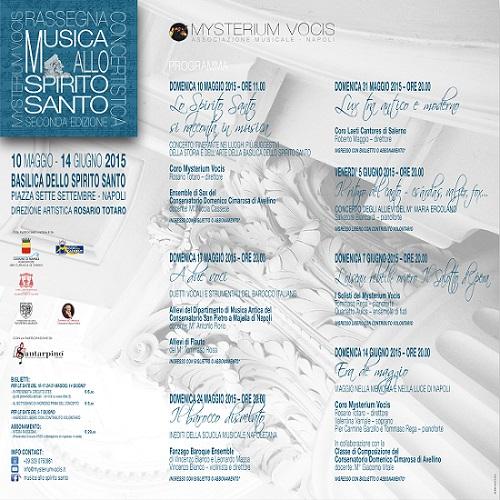 Locandina Musica allo Spirito Santo 2015