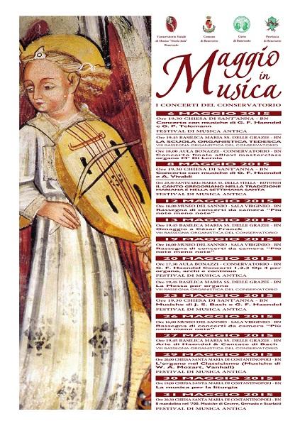 Manifesto Maggio in Musica Conservatorio di Benevento