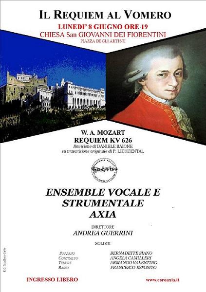 Locandina Requiem di Mozart al Vomero