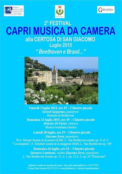 Locandina Festival Capri alla Certosa di San Giacomo