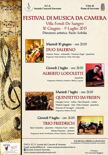 Locandina Festival di Musica da Camera Piano di Sorrento