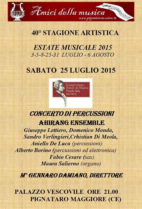 Manifesto 25 luglio Estate Musicale di Pignataro