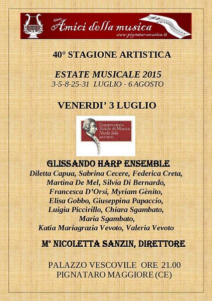 Stagione Pignataro - Manifesto  3 luglio 2015