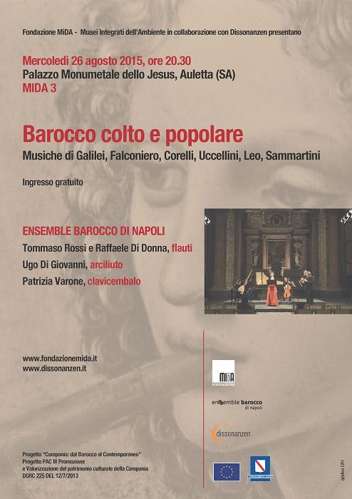 Locandina Ensemble Barocco 26 agosto