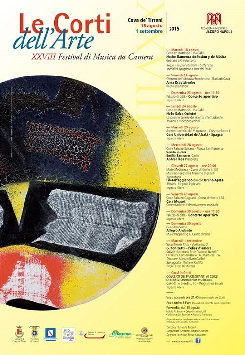 Manifesto Le Corti dell'Arte 2015