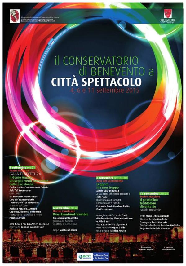 Manifesto Conservatorio di Benevento a Città Spettacolo