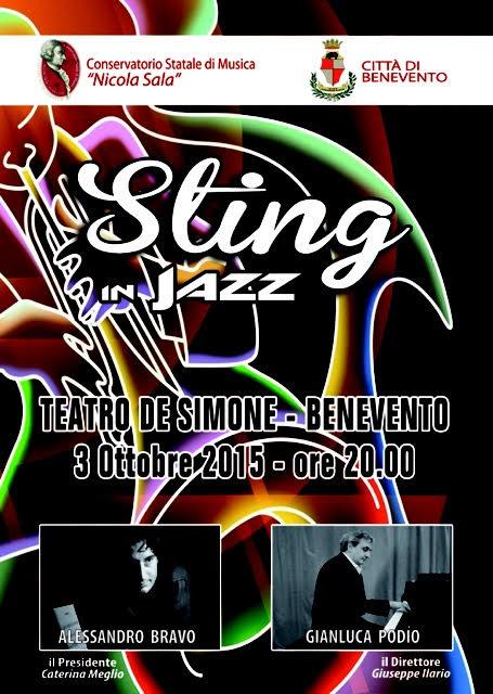 Manifesto Sting in jazz sabato 3 ottobre