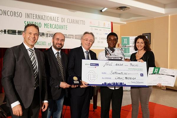 da sinistra Antonio Tinelli, Domenico Nisi, Eddy Vanoosthuyse, Carlos Ferreira e Prudenzia Losavio
