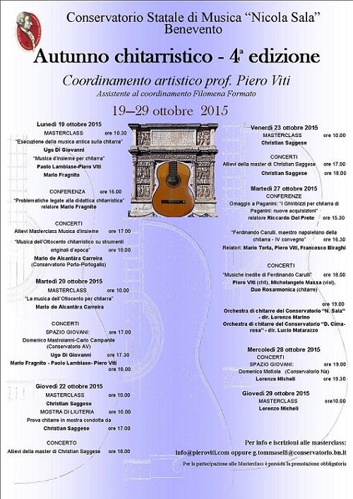 Locandina Autunno chitarristico 2015 a Benevento