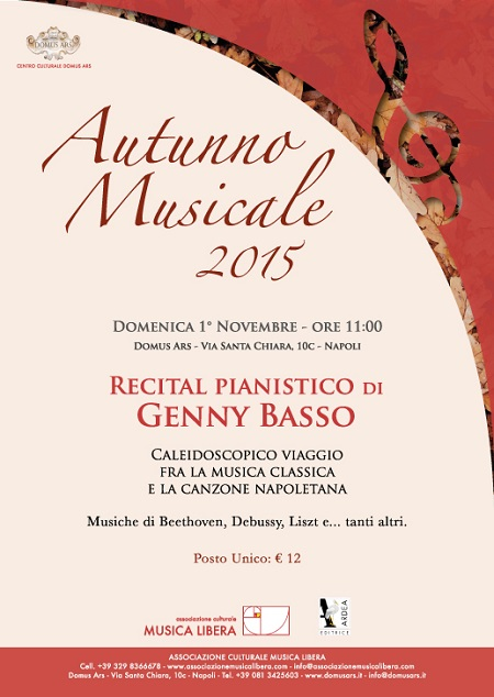Locandina recital Genny Basso
