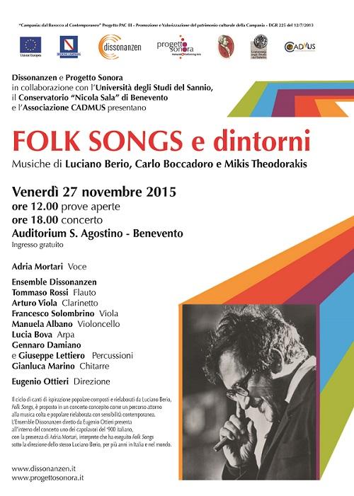 Locandina Folk songs