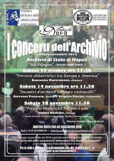 Locandina I Concerti dell'Archivio