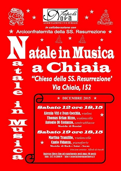 Locandina Natale in Musica a Chiaia