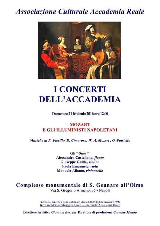 I Concerti dell'Accademia - locandina 21 febbraio