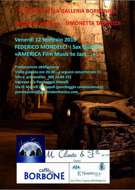 Locandina Concerti della Galleria Borbonica - 12 febbraio