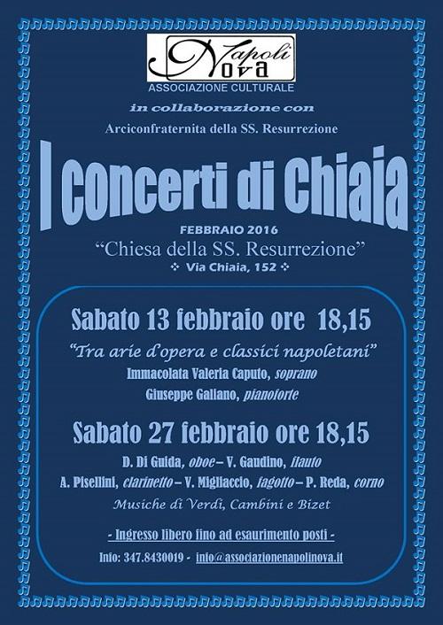 Locandina I Concerti di Chiaia