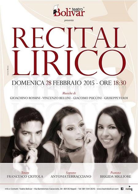 Locandina Teatro Bolivar 28 febbraio