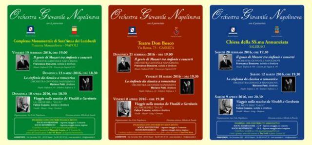 Locandine Stagione Orchestra Giovanile Napolinova