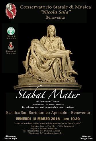 Locandina Stabat Mater Traetta