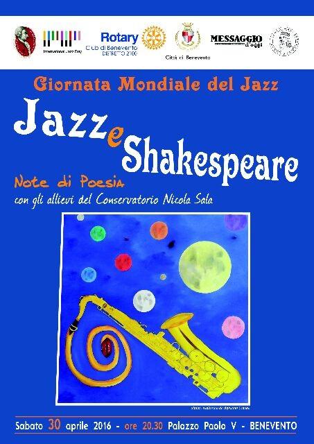 Locandina 30 aprile 2016 Giornata Mondiale del Jazz