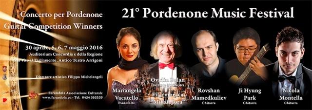 Locandina Festival Pordenone 2016